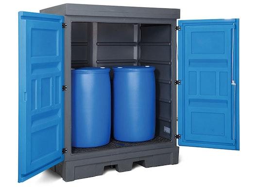 Gefahrstoffdepots für Kleingebinde, Fässer und IBC