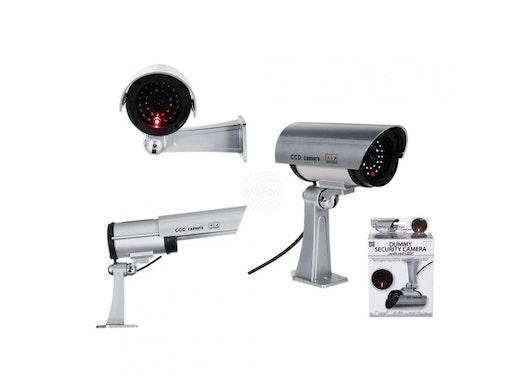61-7027 Überwachungskamera-Attrappe mit roter LED, ca. 20 x 16 cm, für 2 Mignon Batterien (AA)