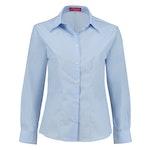 Bluse *leicht talliert* langarm hellblau