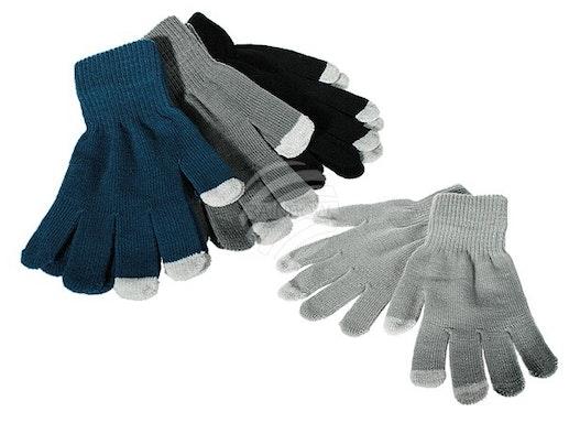 02-1012 Herren-Handschuhe, Phone, 100 % Polyester, ca. 30 g, 4-farbig sortiert