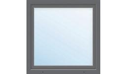 Kunststofffenster 1-flg. ARON Basic weiß/anthrazit 950x1000 mm DIN Links