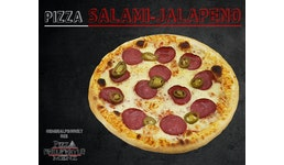 Pizza Salami-Jalapeño