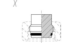 Voss Verschlussstopfen ohne Mutter VKA06 // VSTL 6/S 6 M OR