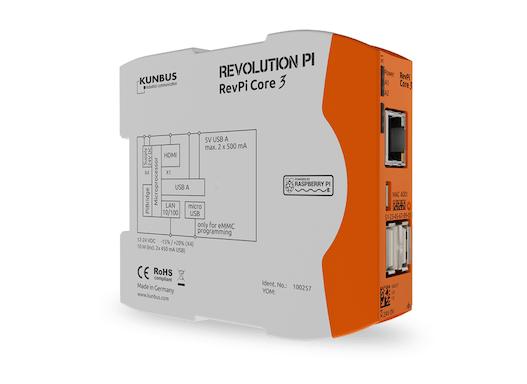 Revolution Pi Core 3 – Open Source IPC, powered by Raspberry Pi CM3