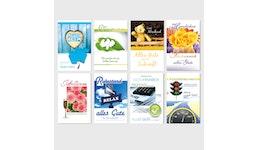 Glückwunschkarten Verschiedene Anlässe Grußkarten 11,5 x 17,5 cm