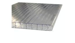 Stegplatte 16mm X-Struktur UV klar / farblos Breiten: 0.98m  1.2m 2.1m Längen: 1m - 7m