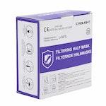 CRDLight YY0525- Feinstaubmaske FFP2 ohne Ventil, gefaltet mit Ohrenschlaufe