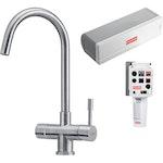 Helix Filter- und Heisswasserarmatur Edelstahl