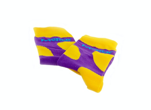 Socken aus Baumwolle, individuell angefertigt, rundum bedruckt / gewebt