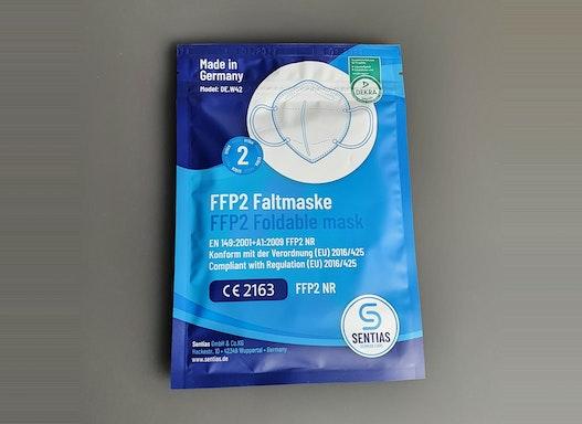 Atemschutz Maske FFP2 NR Sentias (1 Packung = 2 Stück)