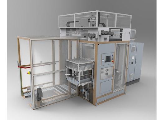 Kompaktpalettierer Einzelplatzlösungen - oli-pal D -Grundmaschine mit Palettenrollenbahn