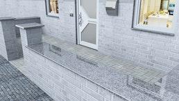 Mauerabdeckungen Granit ab 30 € lfm Max. 220 cm Länge