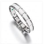 Lunavit Keramik/Titan Armband Olymp Jade Silber/Weiß