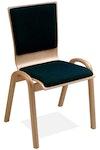 Stapelstuhl – Holzschale mit Holzgestell