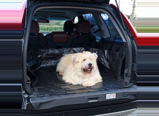 Kofferraum Schutz – die abwaschbare, wasserfeste Hundedecke – Kofferraummatte mit Ladekanten Schutz