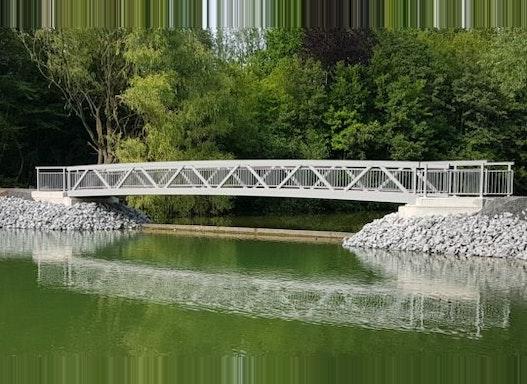 Fachwerk-Trogbrücke