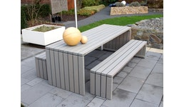 Gartenmöbel wetterfestes Holz, auch mit Polstern