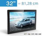 Werbedisplay, digital, LCD in 32 Zoll AD-PF32H7