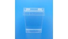 Prospektständer aus Acrylglas, Acryline, Prospekthalter A4 mit Deckel für Aussenanwendung
