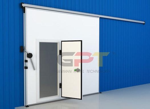 Anzeige Kühlzellentür Kühlhaustür Kühlzelle Kühlraum Tiefkühlhaus 1,30m x 2,30m