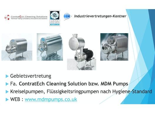 Kreiselpumpen, Flüssigkeitsringpumpen für  Hygiene-/ Steril-Anwendungen, Bereich Lebensmittel bis Pharma