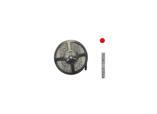 LED Lichtband / LED Flexband 8mm rot PCB weiß 12V DC IP65 5 Meter Streifen