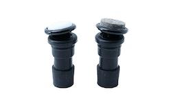 Bodengleiter, Rohrstopfen für Rundrohr mit Kugelgelenk Typ BGWK / Ø 18 - 20 mm