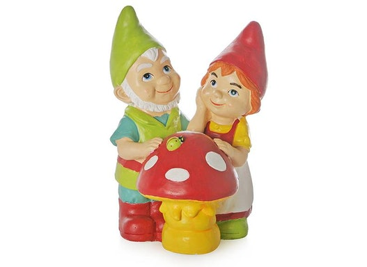 Gartenzwergenpaar mit Pilz