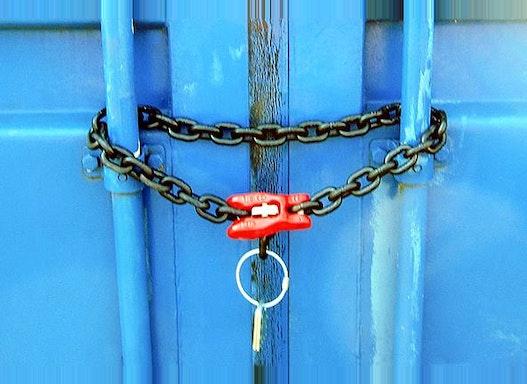 Container-Türöffnungssicherung