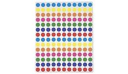 Farbige Markierungspunkte sortiert, wiederablösbar