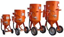 Hochleistungsdruckstrahlkessel mit pneum. Fernsteuerung Type SCX