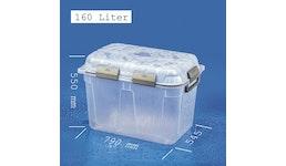 JUMBO-DRY-BOX 160 Liter, groß, transparent und wasserdicht