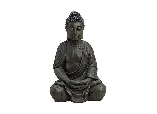 BUDDHA BRAUN SITZEND POLY 50CMH