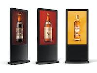 LCD Werbesäule, Digital in 55 Zoll
