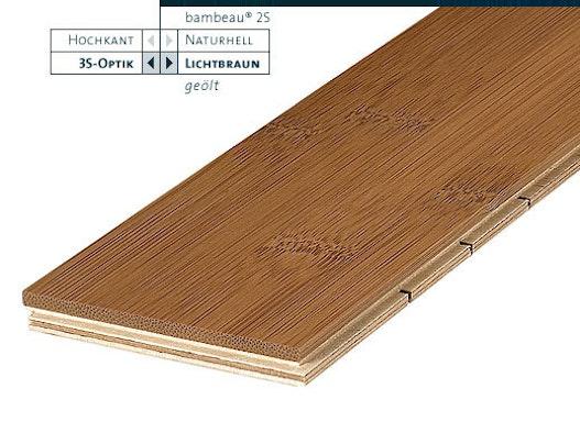 Bambus Ferigparkett 2-Schicht lichtbraun - Bambeau Bambusparkett