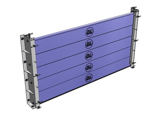 Hochwasserschutztüren - BL/HAP-SB 200-50: Stapelbare Barrierekörper - Aluminiumprofil 200 x 50 x 4 mm