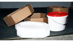 Farbeimerbox® Premium, Versandverpackung für Farbeimer, Dosenversand, oval oder rund, zertifiziert