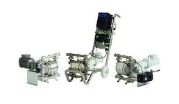 Elektrische FDA-Doppelmembranpumpe: Elektrische Membranpumpe SaniForce 1040e