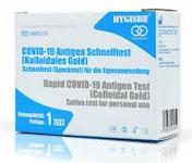 HYGISUN COVID-19 Antigen Schnelltest Spucktest mit Laienzulassung | 1 Test pro Packung