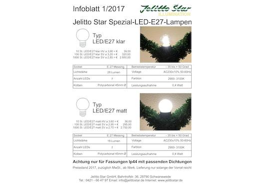 LED Lampen in klar und matt, 0,4 W