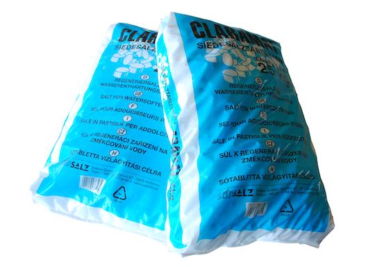 Regeneriersalz, Salztabletten, Siedesalztabletten, Siedesalz DIN EN 973 Typ A für Enthärtungsanlagen, Wassernthärter
