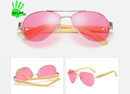 Sonnenbrille Bambus für Werbezwecke
