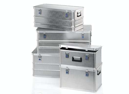 Gmöhling Transportboxen G®-allround BOX A 1539 aus strukturiertem Aluminium