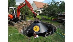 Abwassersammeltank nach Maß (Klärgrube oder Erbeinbau)