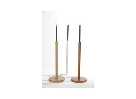 Holz-Standfuß mit runder Standplatte passend zu Pappmaché-Torsen