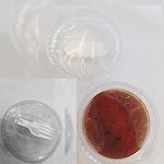 Becher Lohnabfüllung mit Müsli, Superfood, Soßen, Trockenprodukten