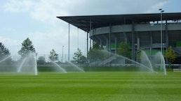 Bewässerungstechnik für Sportplätze