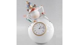 Uhr Froschkönig - Porzellanfigur