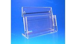 Prospektständer aus Acrylglas, Acryline, Prospektständer A5 Querformat aus Acrylglas