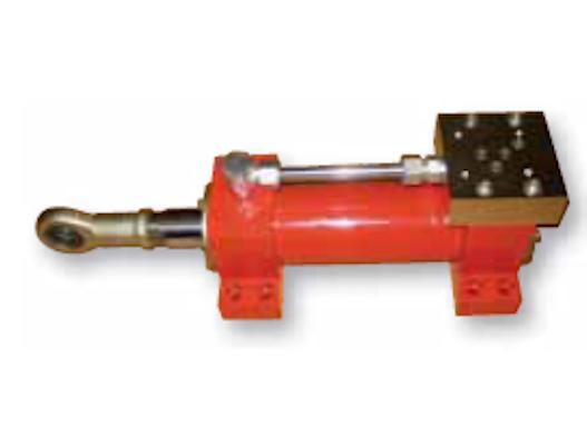 Zylinder mit Vertikalfuß und Ventilplatte.